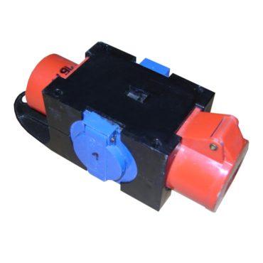 Starkstromverteiler CEE16 auf 2x SchuKo