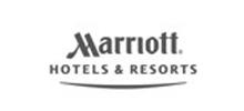 schwarz weiß logo marriott