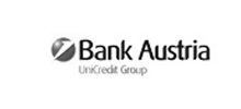 schwarz weiß bank austria logo