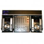 Dj-Mixer aus Eventtechnik mit Pioneer Mixer und CD-Player