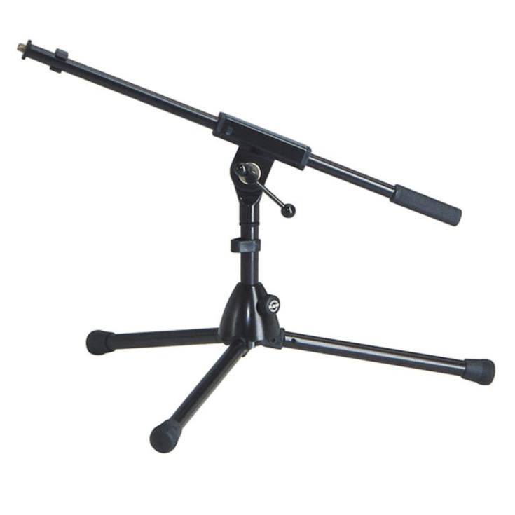 kleines Mikrofonstativ schwarz Tontechnik auch für Funkmikrofon