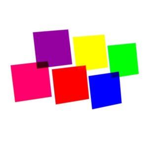 Farbfolie von Scheinwerfer bunt