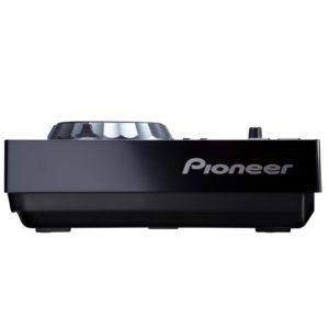 Seitenansicht des Pioneer CDJ 350 DJ Equipment Cd Player. Eventtechnik mieten für Clubbings und Konzerte