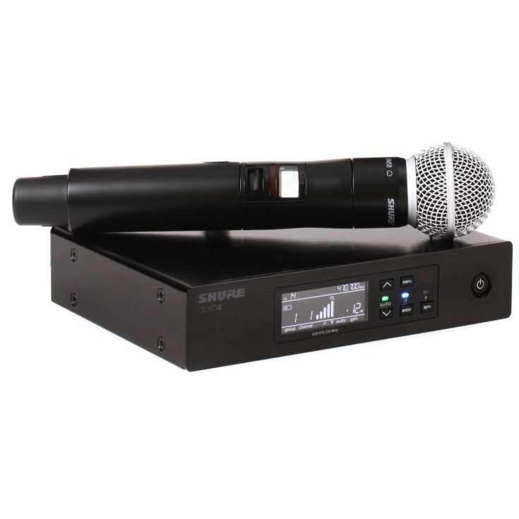 Funkmikrofon Shure Beta 58 QLXD Hauptansicht Eventtechnik