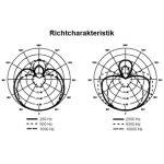 Mikrofon Shure Beta 57A Richtcharakteristik