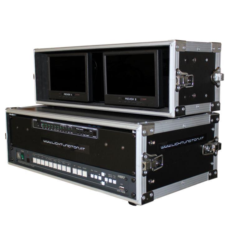 Mobile Videoregie mit Scaler und Vorschaumonitoren Hauptbild