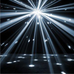 Spiegelkugel Lichteffekt - Starburst LED Eventtechnik mieten