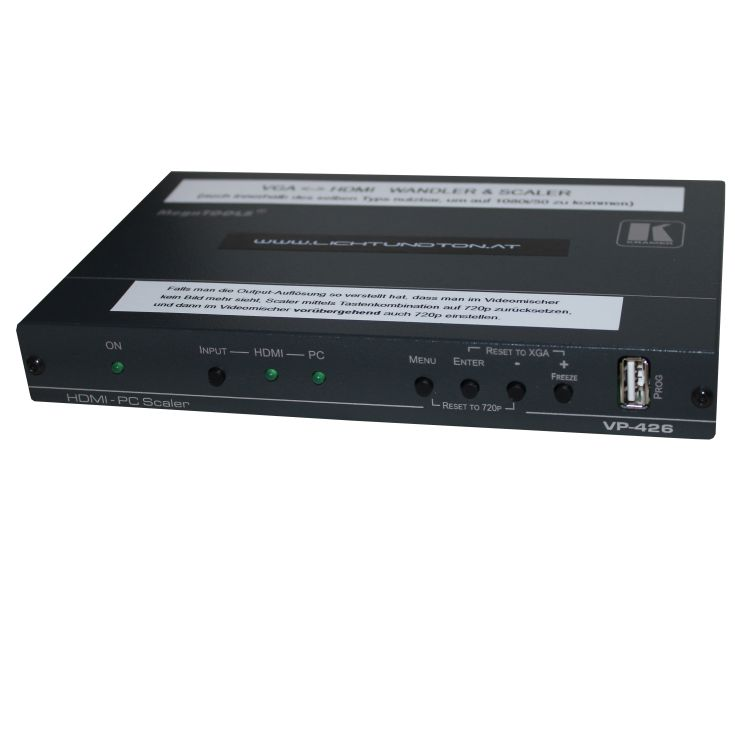 HDMI zu VGA Wandler und Scaler Frontansicht
