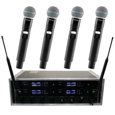 Funkmikrofon Shure Beta 58 QLXD 4er-Case eins