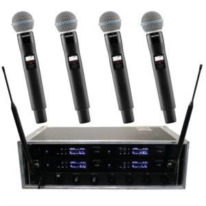 Funkmikrofon Shure Beta 58 QLXD 4er-Case zwei