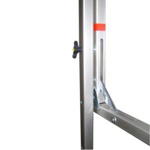 Rahmen-Leinwand-Aufpro-280cm-x-160cm Rückseite wie Fuß montiert wird