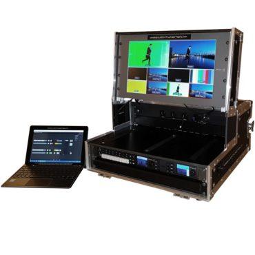 Videomischer Blackmagic ganze Regie Videotechnik