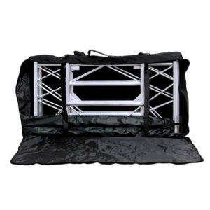 DJ-Pult schwarz in geöffneter Form