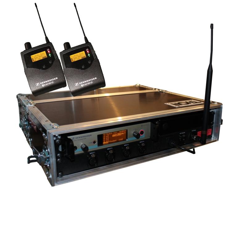 InEar Monitoring Sennheiser Doppelcase Hauptbild mit zwei Empfängern