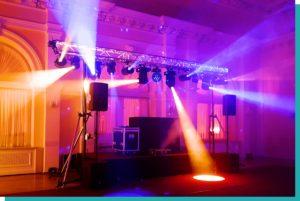 Tanzflächen Beleuchtung für Hochzeit und Geburtstagsfeier mieten
