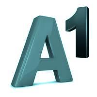 Logo von A1 in türkisem Farbton