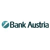 Logo der Bank Austria in türkisem Farbton