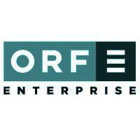 Logo der ORF Enterprise in türkisem Farbton