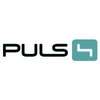 Logo Puls 4 in türkisem Farbton