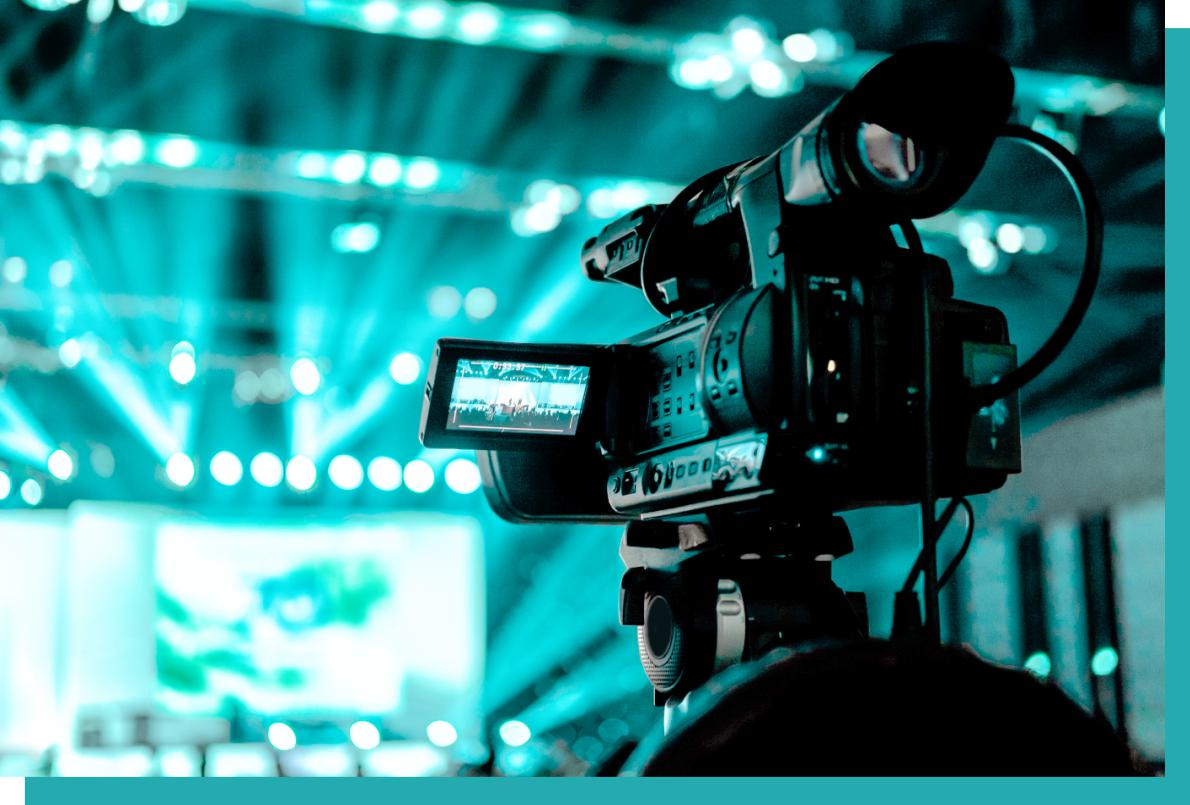 Kamera bei digitalem Event und webinar