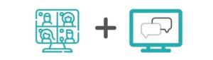 Symbol für Multivew-Darstellung und Chatfunktion im live-Stream