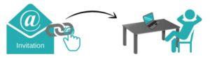 Symbol für einfache Benutzung bei Streaming-Event