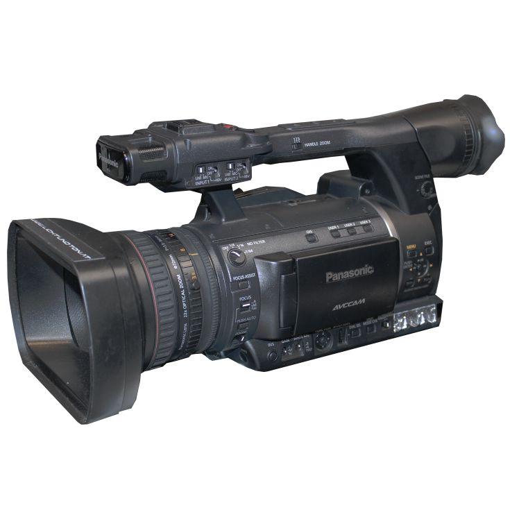 Camcorder Panasonic AG-AC160 in Schrägansicht