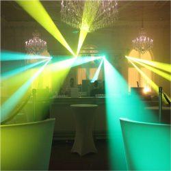 Lasersimulator Hybrid-Gerät im Einsatz mit grünen und gelben Strahlen