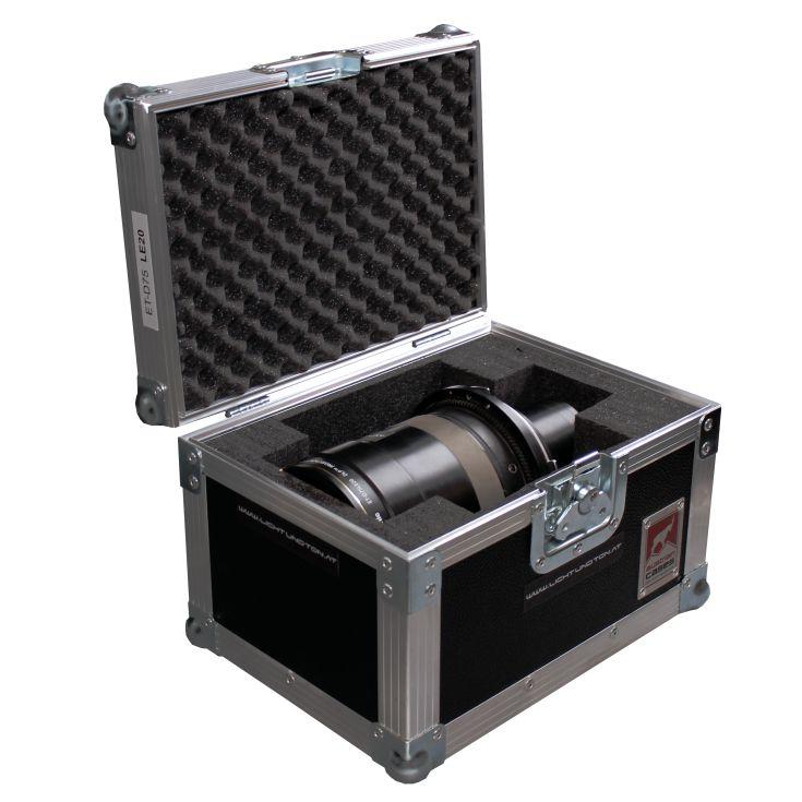 Panasonic Zoom-Objektiv ET-D75 LE40 im geöffneten Case