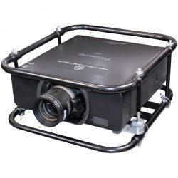 Panasonic Zoom-Objektiv ET-D75 LE40 an Beamer Schrägansicht