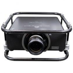 Panasonic Zoom-Objektiv ET-D75 LE40 an Beamer Frontalansicht